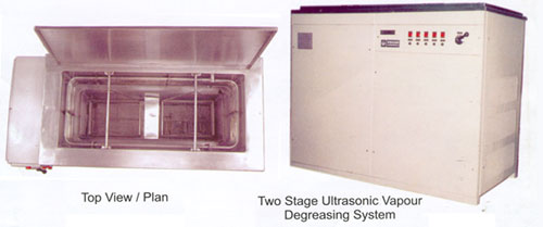 Multi Stage Ultrasonic Vapour Degreasing System
